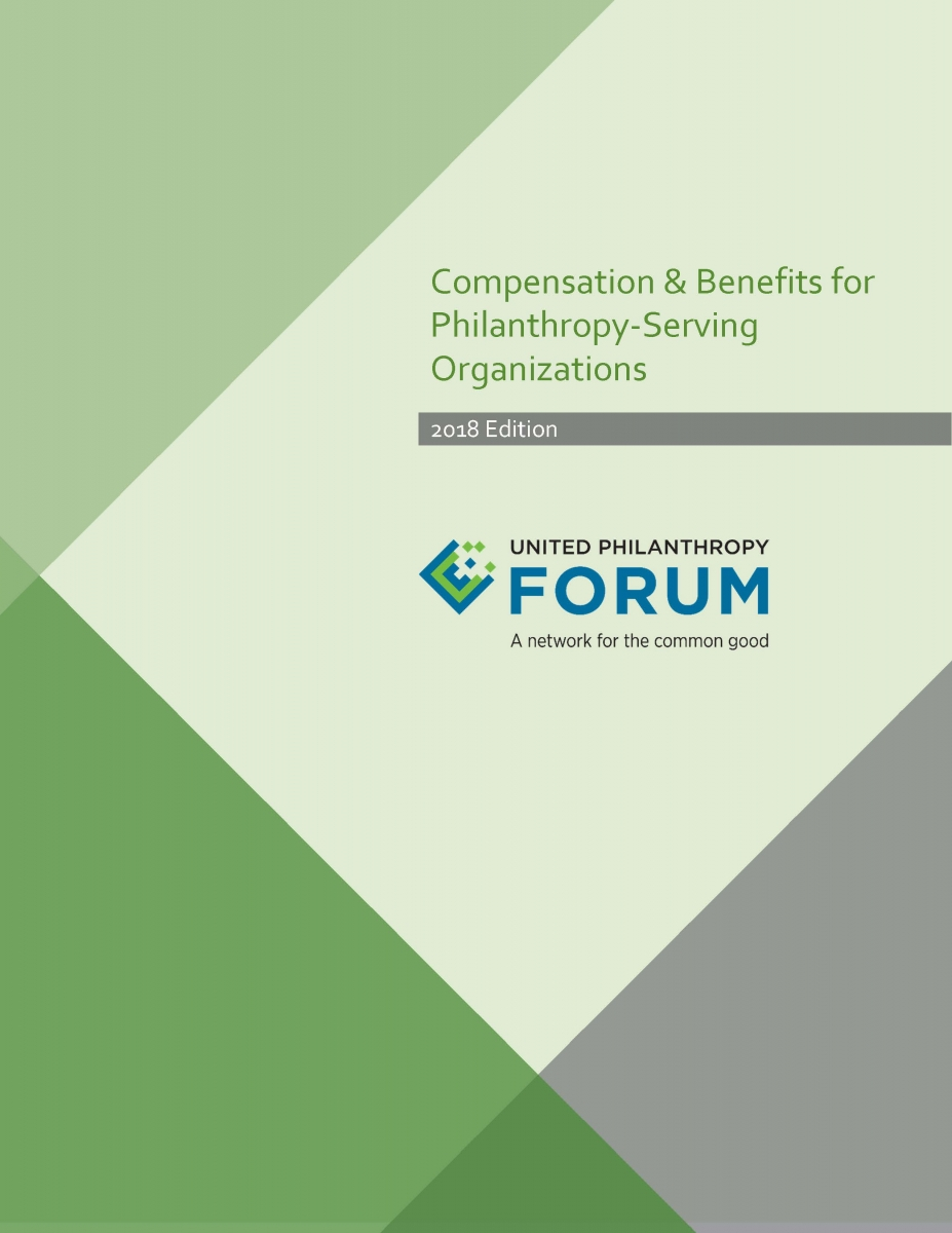 Report Cover for 2018 Compensation & Benefits for Philanthropy-Serving Organizations