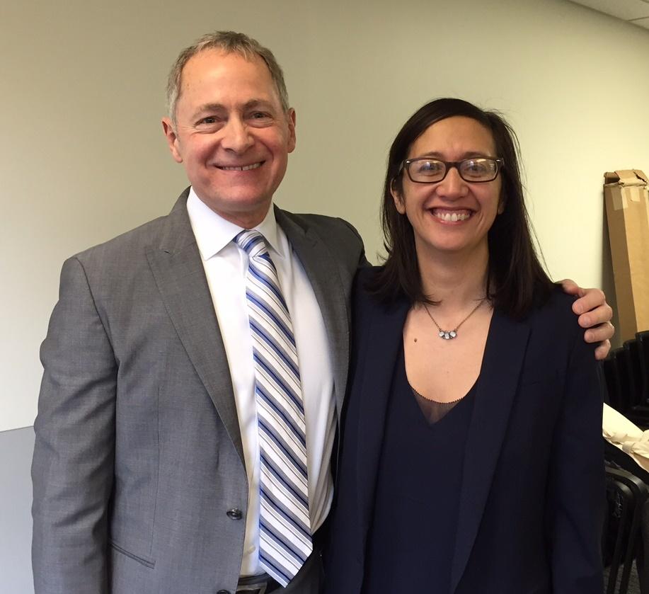 David Biemesderfer, President and CEO of the Forum, and Maari Porter, Executive Director of Philanthropy Network Greater Philadelphia