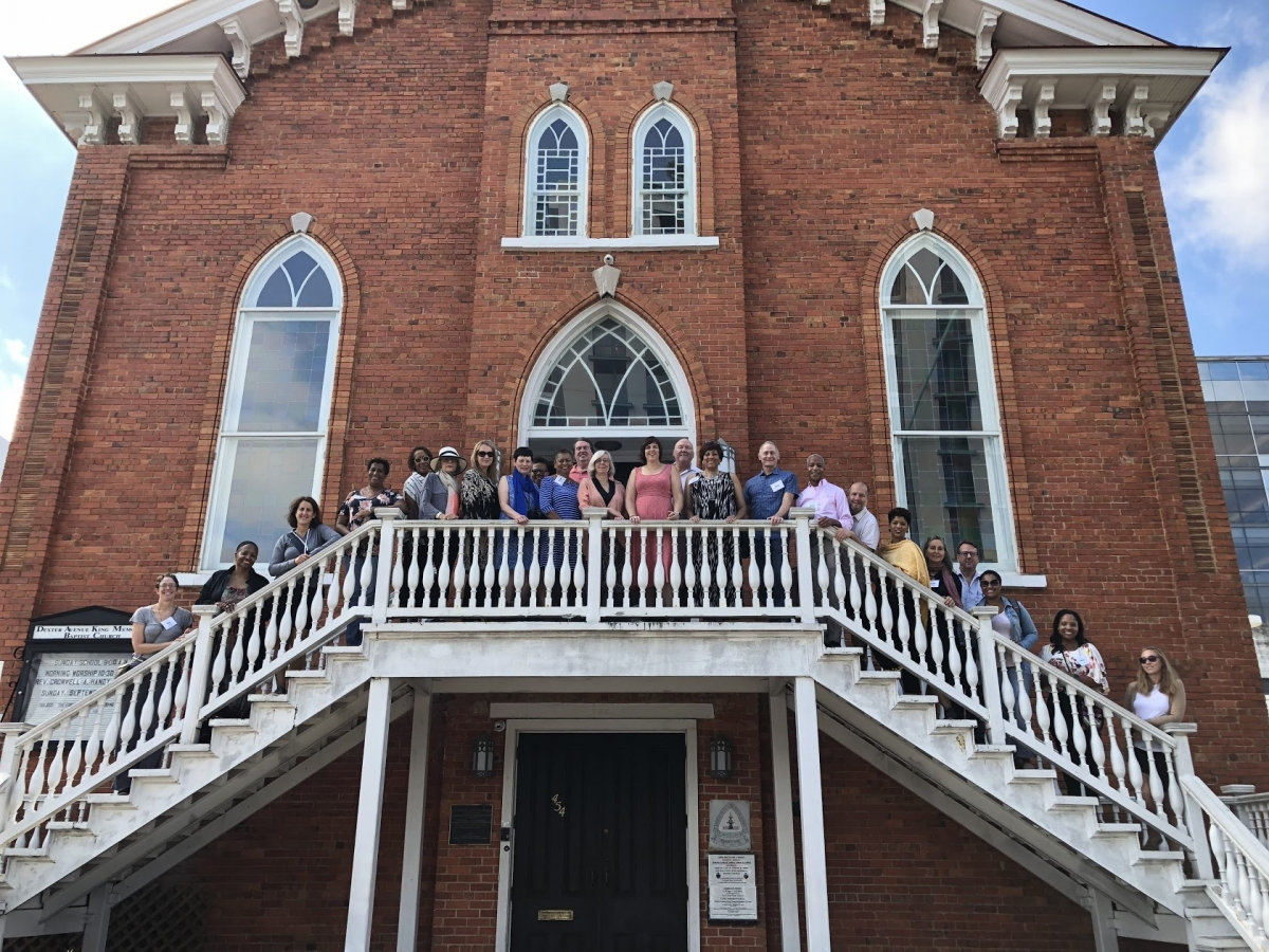 Our Group At The Dexter Avenue King Memorial Baptist Church In Montgomery Al Which