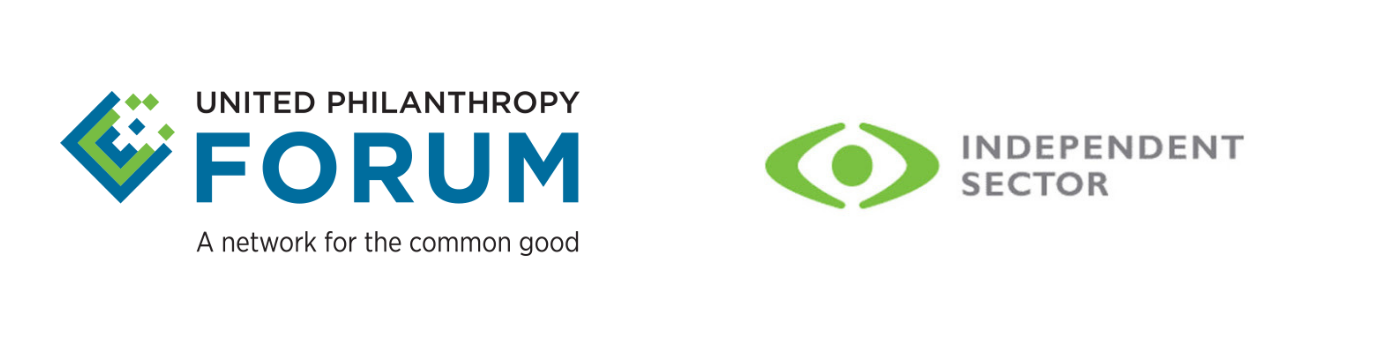 United Philanthropy Forum & Independent Sector Logos
