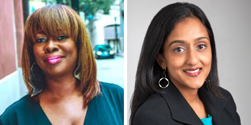 LaTosha Brown and Vanita Gupta Headshots