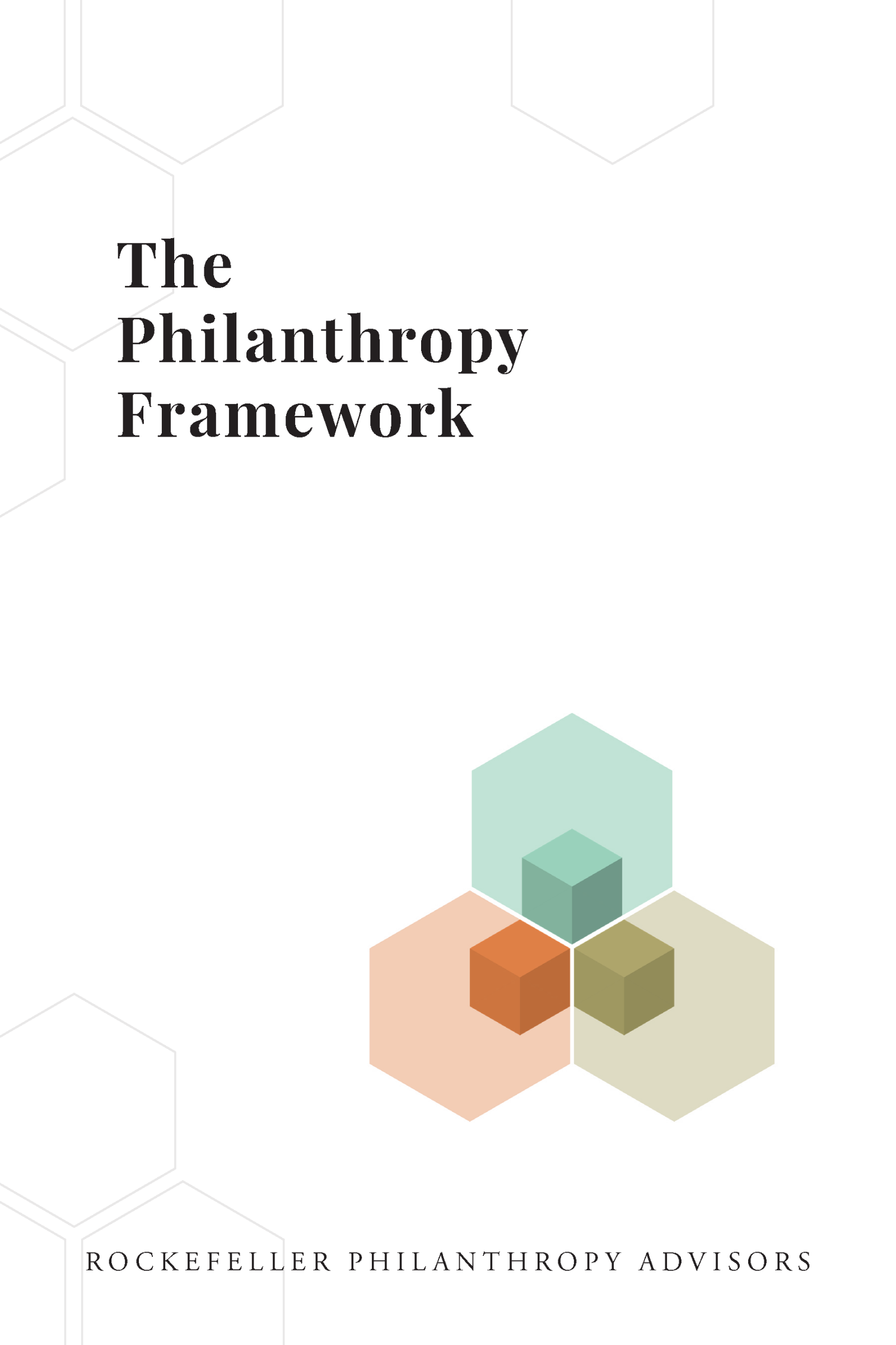 The Philanthropy Framework Report Cover