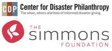 Center for Disaster Philanthropy and The Simmons Foundation Logos