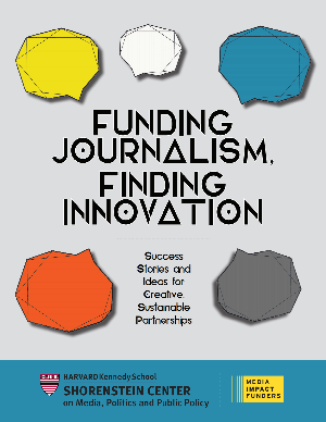 Funding Journalism, Finding Innovation Report Cover