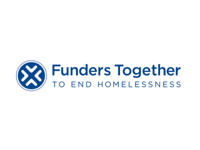 Funders Together to End Homelessness Logo, blue and white.