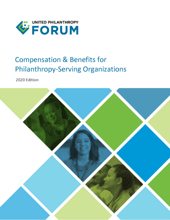 Cover of the 2020 Compensation & Benefits for Philanthropy-Serving Organizations 2020 Edition